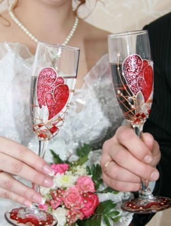 бокалы на свадьбы