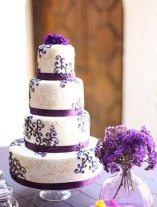 Свадебный торт из бисквитного теста