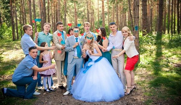 общее фото со свадьбы