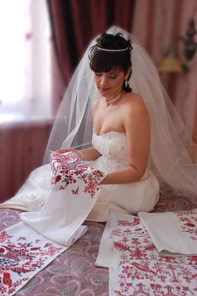 невеста и рушник