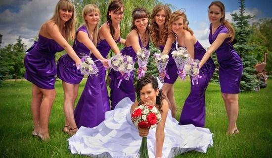 невеста со свитой