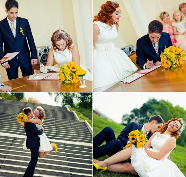 свадьба в желтом
