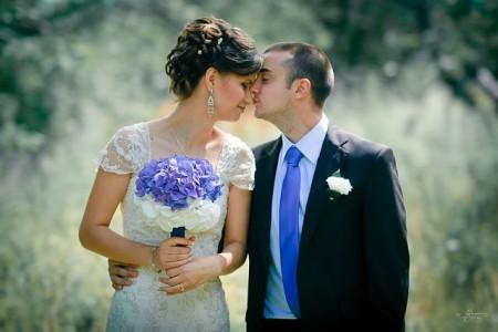 Свадьба в синем