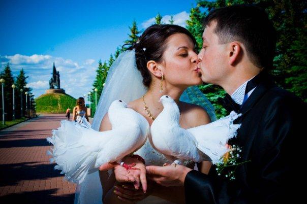Видео запуск голубей на свадьбе фото 41-550