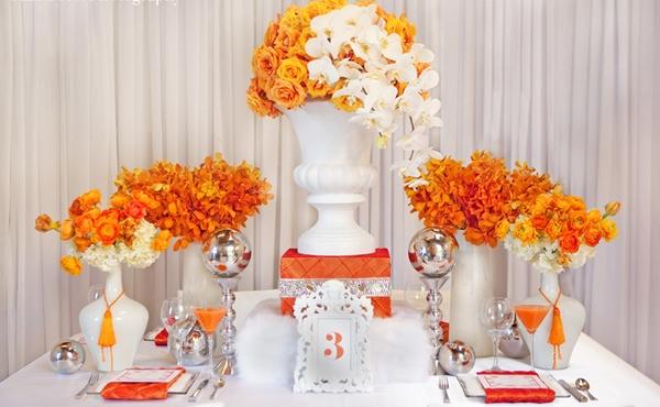 Оформление оранжевой свадьбы