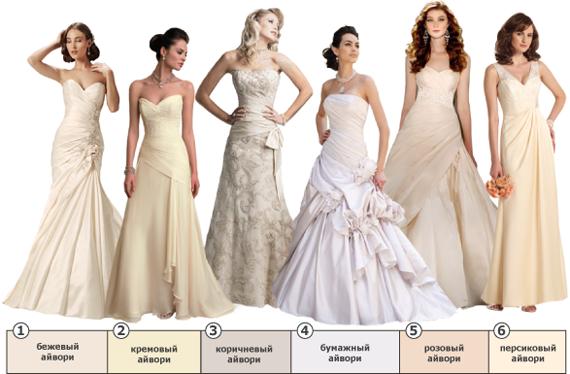 Оттенок свадебного платья