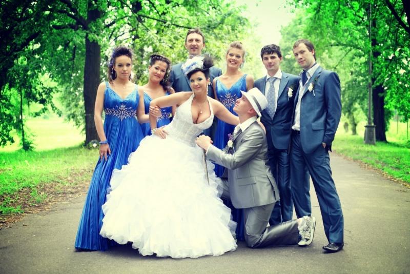 Синий цвет на свадьбе что означает