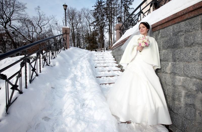 невесты фото зимой