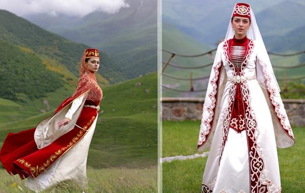 Осетинский свадебный наряд невесты