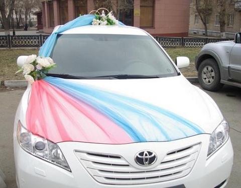 украшение авто на свадьбу