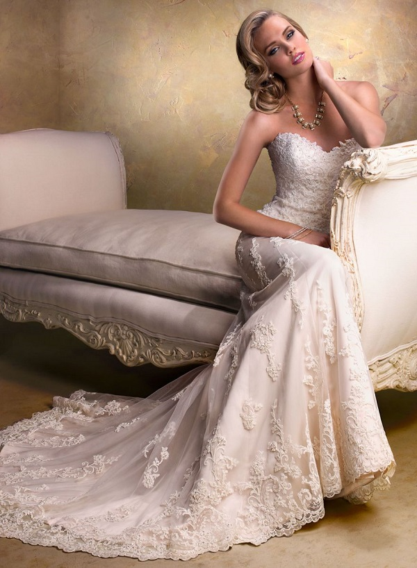 кружевное платье невесты