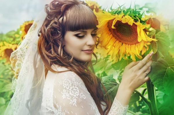 невеста в подсолнухах