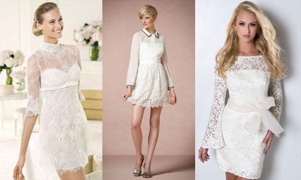 платье невесты с рукавом