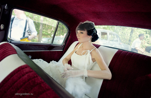 невеста в авто
