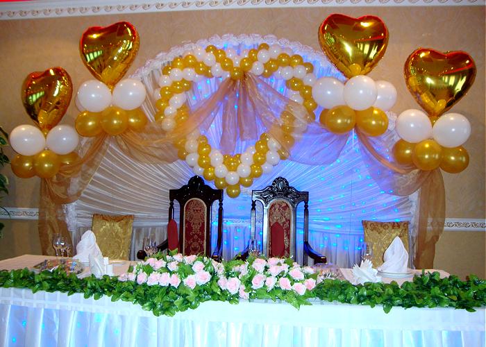 Свадебное украшение зала своими руками