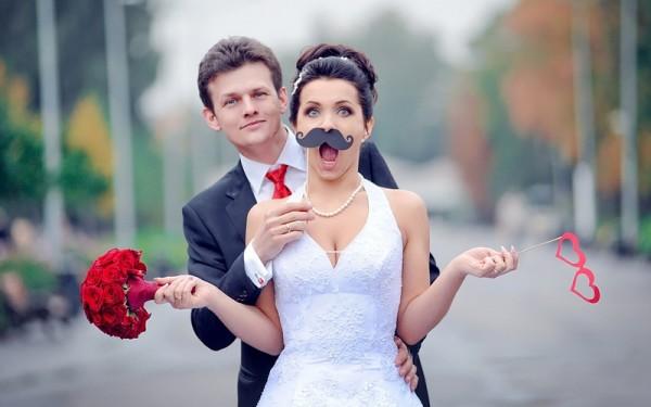 удивленная невеста