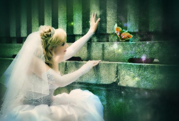 невеста с бабочкой