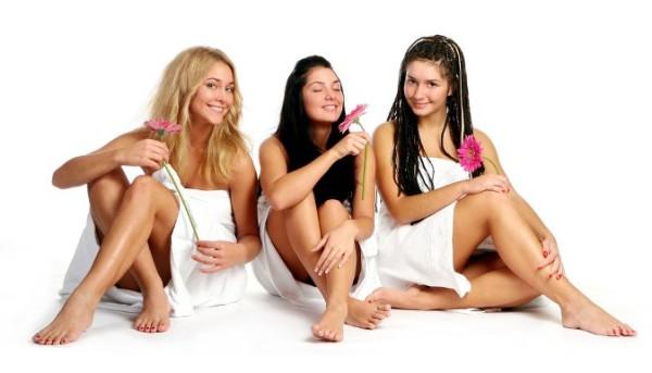 Девушки в сауне