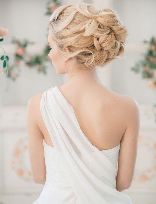 греческая укладка невесты