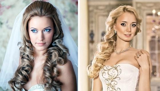 невеста с длинными волосами