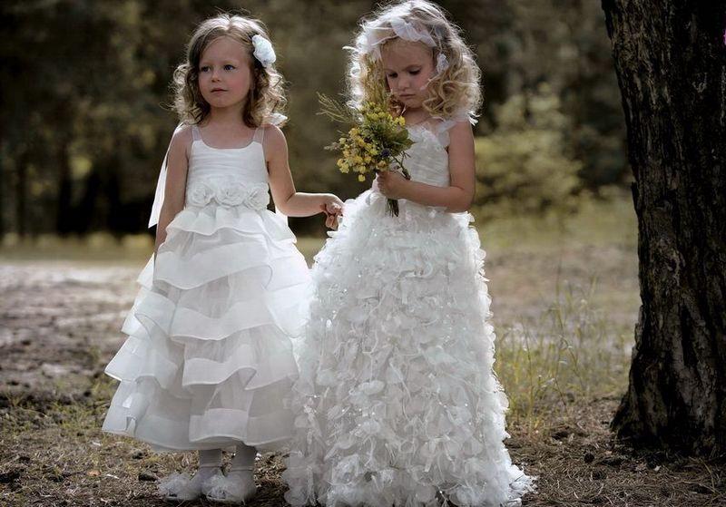 Фото девочек в свадебном платье