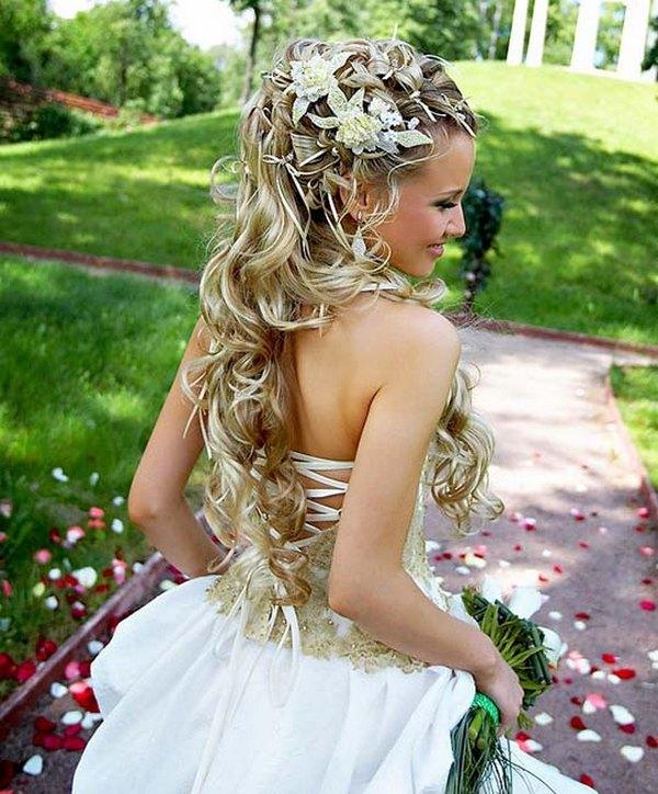 длинные волосы невесты
