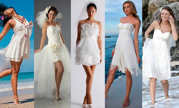 Пляжные свадебные платья