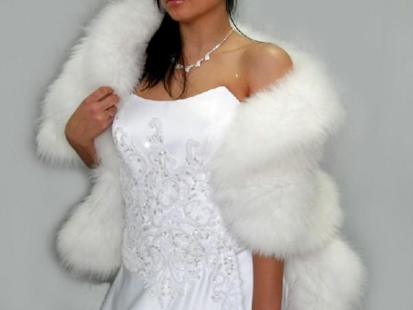 накидка на свадебное платье