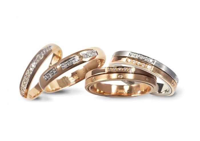 Адамас свадебные кольца