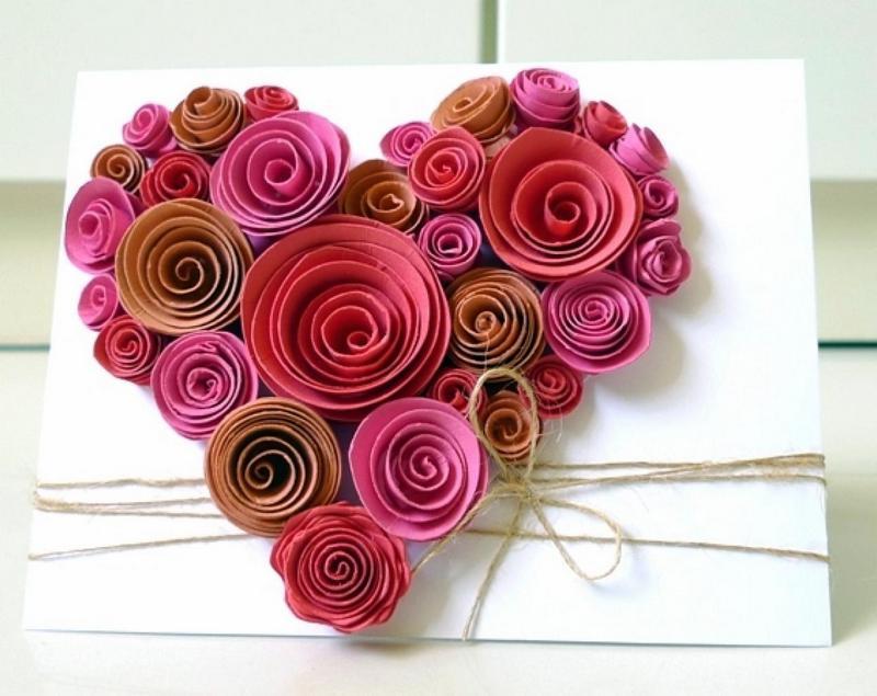 Подарки из бумаги розы