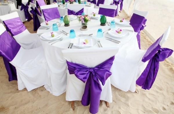 Украшение свадебных столов и стульев