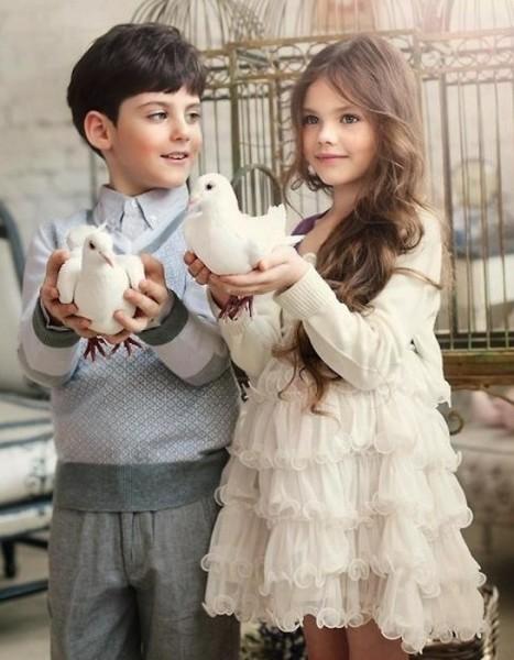 дети с голубями