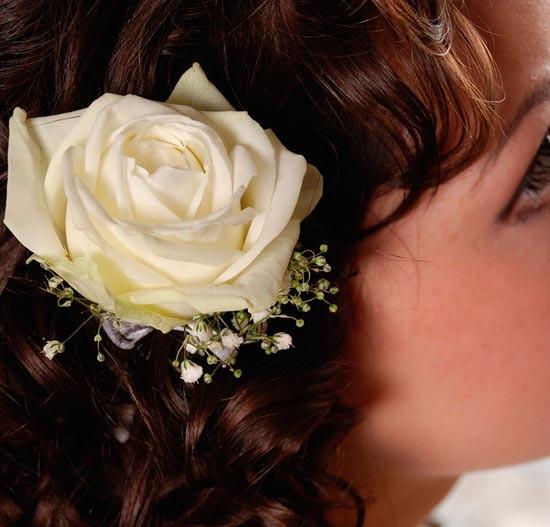 роза в волосах