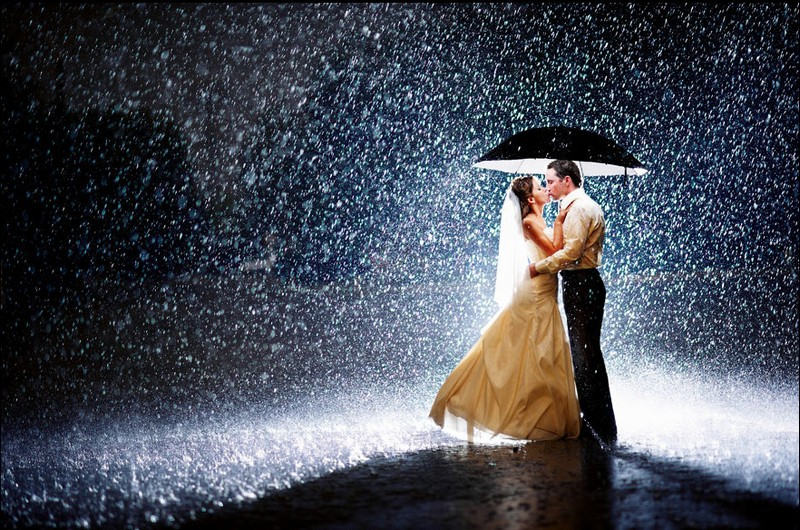 Rain in wedding