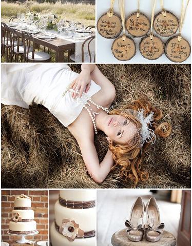 невеста на свадьбе в стиле рустик
