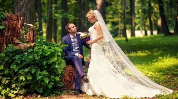 жених и невеста в лесу