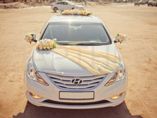 Свадебный кортеж в персиковом