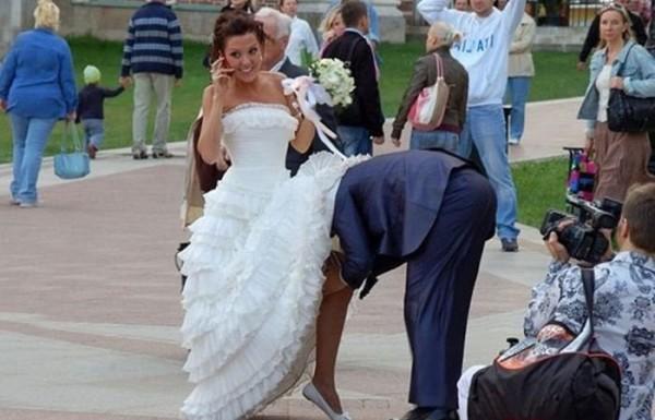 жених под платьем