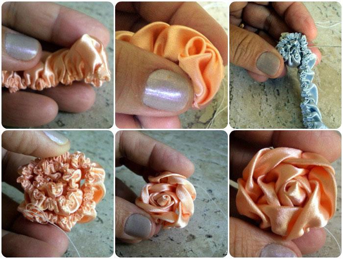 Как сделать цветы из ткани 4 мастер -класса для начинающих