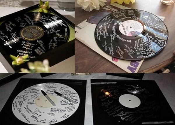 свадебные пожеланий на виниловых пластинках