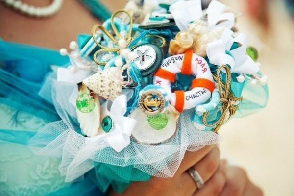 букет невесты для свадьбы в морском стиле