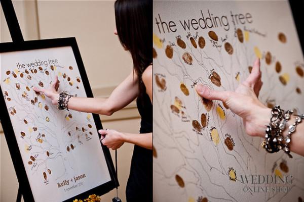 свадебные пожеланий на отпечатках пальцев