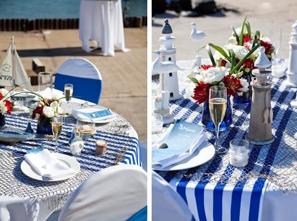 свадебный стол у моря