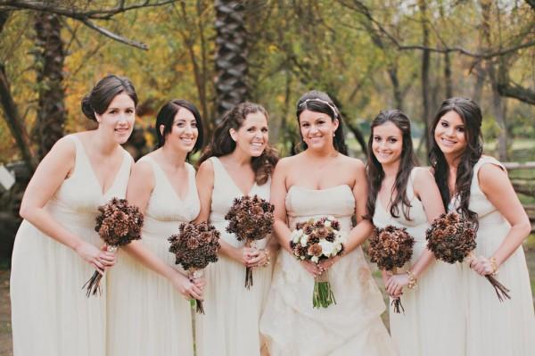 невеста с подружками осенью