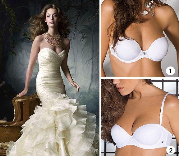 белье под свадебное платье