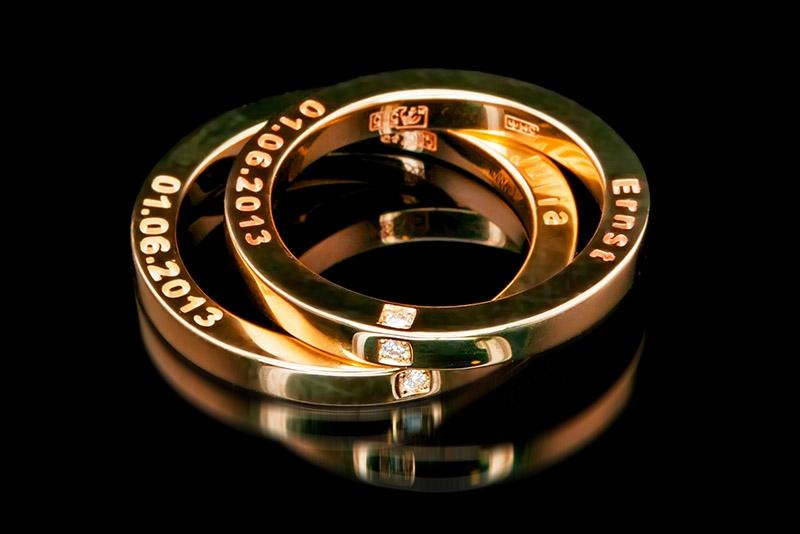 кольца обручальные на заказ фото